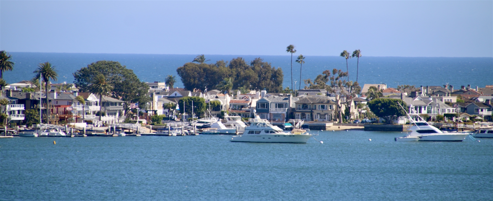 Newport Beach Harbor on a Sunny Summer Day